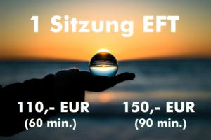 EFT Coaching Sitzung 110,- EUR für 60 min und 150,- EUR für 90 min